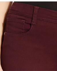 Burgundy skinny jeans petite
