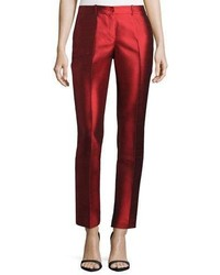 Michl kors samantha skinny shantung pants scarlet medium 5146953