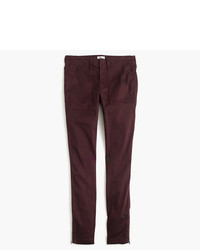 Petite skinny stretch cargo pant with zippers medium 957132