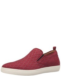 Burgundy Slip-on Sneakers