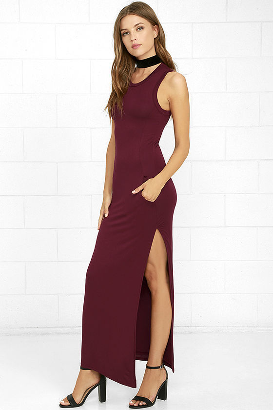 54e6ac9716 ... LuLu s Shield And Sword Dusty Purple Sleeveless Maxi Dress ...
