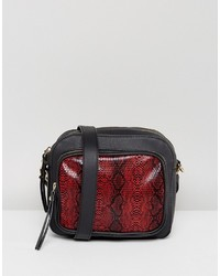 Red faux snake cross body bag medium 6860822