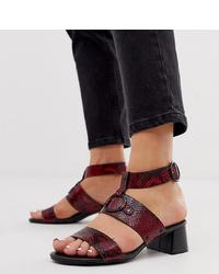 Simply Be Extra Wide Fit Daria Block Heel Metal Detail Sandals
