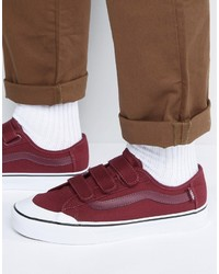 Vans Black Ball Priz Sneakers In Burgundy Va2xsz4qu