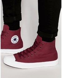 Converse Chuck Taylor All Star Ii Hi Top Sneakers In Red 150144c