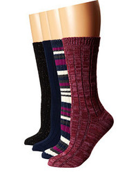 Steve Madden 4 Pack Marl And Solid Boot Sock