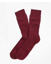 Brooks Brothers Ribbed Cashmere Dress Socks