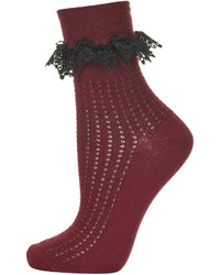 Topshop Crochet Trim Ankle Socks