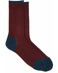 Barneys New York Dotted Cotton Blend Mid Calf Socks