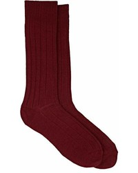 Barneys New York Knit Mid Calf Socks