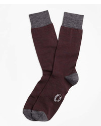 Brooks Brothers Marled Color Block Wool Blend Socks