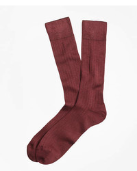 Brooks Brothers Rib Knit Crew Socks