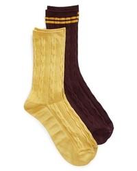 Treasure & Bond Soft Shine 2 Pack Crew Socks
