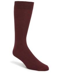 Topman Textured Burgundy Socks