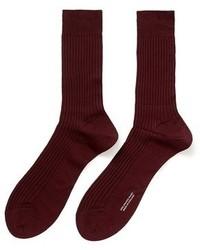 Nobrand Vale Rib Knit Cotton Socks