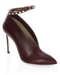 Jimmy Choo Larc 100 Studded Ankle Strap Leather Booties