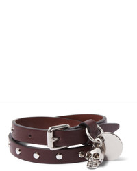 Alexander McQueen Studded Leather Wrap Bracelet