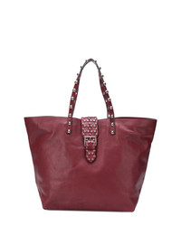 RED Valentino Red Studded Oversized Tote