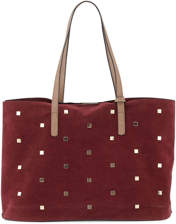 42d1d5061b93 ... Burgundy Studded Suede Tote Bags Neiman Marcus Studded Faux Suede Tote  Bag Wine ...