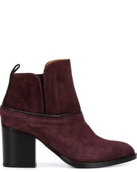 Alberto Fermani Piped Ankle Boots