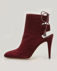 a80956dec690 ... Brian Atwood Arron Suede Tie Back Ankle Boot ...