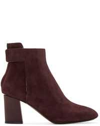 Proenza Schouler Burgundy Suede Ankle Boots