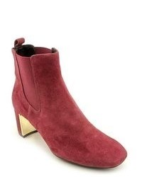 Isaac Mizrahi Carnaby Red Suede Fashion Ankle Boots