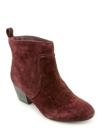 Joe's Filoia Burgundy Leather Fashion Ankle Boots Newdisplay