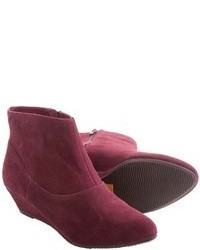 BC Footwear Say Cheese Ankle Boots Suede Side Zip