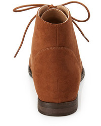 517b7ccb142 ... Forever 21 Faux Suede Lace Up Booties