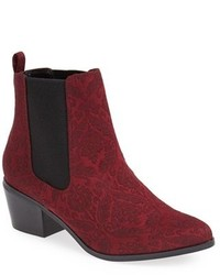 Burgundy Suede Chelsea Boots