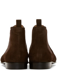 33fa55a35435 ... Paul Smith Ps By Dark Brown Suede Falconer Boots