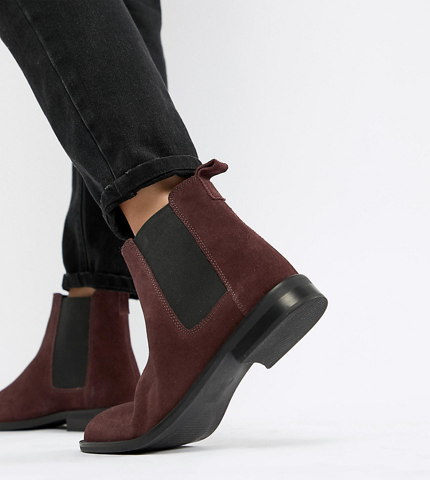 new selection sneakers for cheap 2019 discount sale Wide Fit Aura Suede Chelsea Ankle Boots
