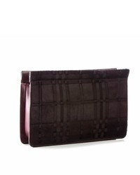 Burgundy Suede Clutch