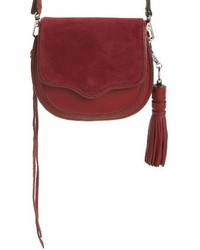 Mini suki crossbody bag burgundy medium 1027043