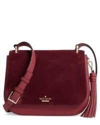 New york daniels drive tressa suede leather shouldercrossbody bag red medium 5208754