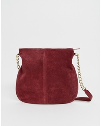 ASOS DESIGN Suede Shopper Bag With Chain