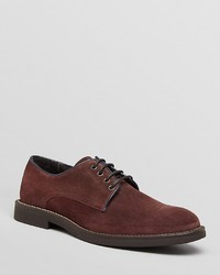 Burgundy Suede Derby Shoes