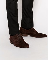 Asos Brand Derby Shoes In Suede