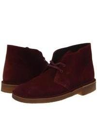 Burgundy Suede Desert Boots