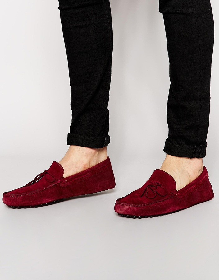 bb40d666ed017 Asos Brand Driving Shoes In Suede, $65   Asos   Lookastic.com
