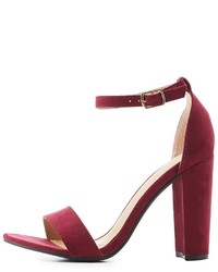 Charlotte Russe Two Piece Block Heel Sandals