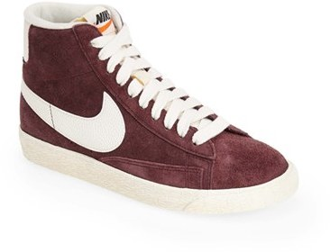 new product 68aef 3cbb7 ... Burgundy Suede High Top Sneakers Nike Blazer Vintage High Top  Basketball Sneaker ...