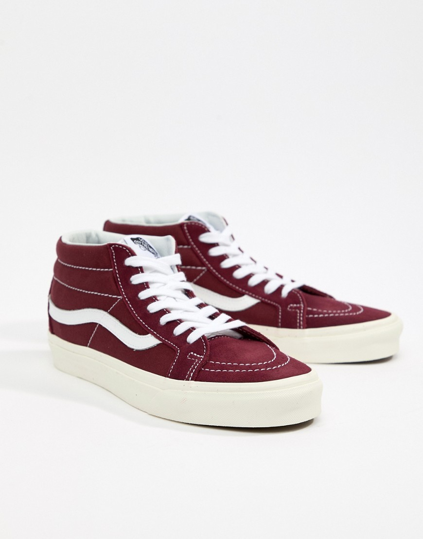 Vans Sk8 Mid Reissue Trainers In Red