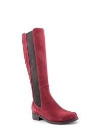 Cole Haan Jodhpur Burgundy Leather Fashion Knee High Boots