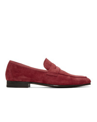 Paul Smith Red Suede Glynn Loafers