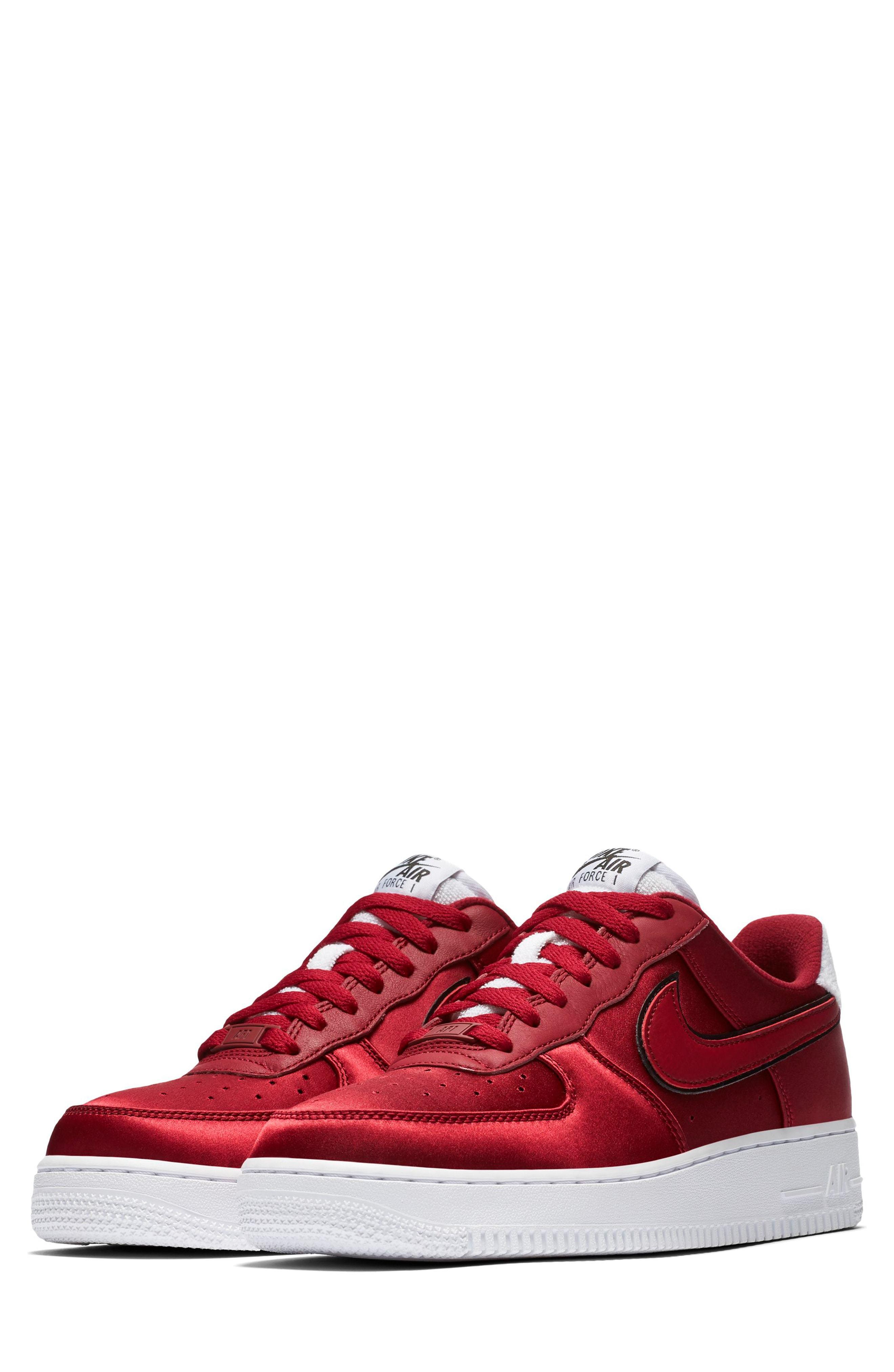 best sneakers 09ce0 b72e8 ... Burgundy Suede Low Top Sneakers Nike Air Force 1 07 Se Sneaker