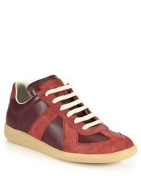 Maison Margiela Leather Suede Low Top Sneakers