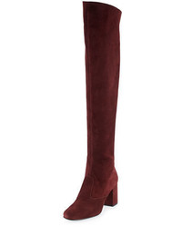 Saint Laurent Babies Suede Over The Knee Boot