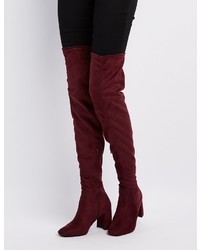 Charlotte Russe Square Toe Over The Knee Boots